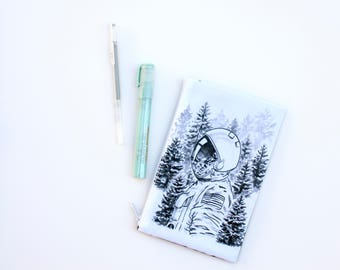 Double-sided Astronaut zipper pouch - Small