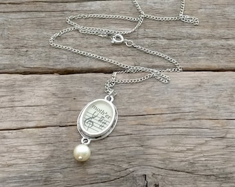 mother necklace | vintage sheet music | vintage and repurposed necklace | gift for her | gift for mom - SUMMER SALE!