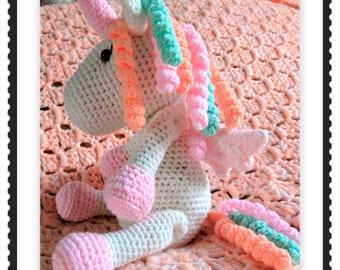 Adorable handmade crochet unicorn