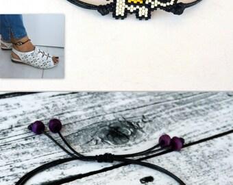 Elephant Anklet Bracelet, Cute Animal Gift, Elephant Jewelry, Minimalist Anklet, Miyuki Adjustable Foot Bracelet, Birthday Gift, Lucky Gift