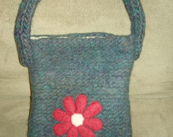 Little Knitted and Needle Felted Purse