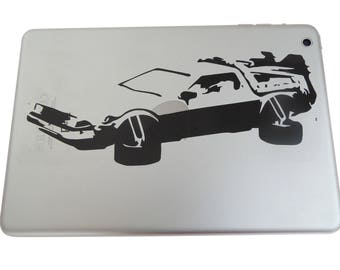 Back To The Future Delorean Decal - Black