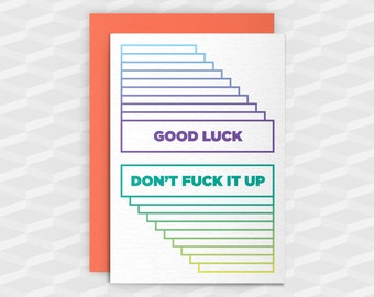 Adult greeting card etsy rude good luck cardsgood luck cardgood luck dont fuck it upgood luckfunny good luck cardsswearing cardsrude greeting cardsadult card m4hsunfo