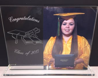 Glass Graduation Picture Frame