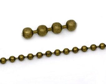 Wholesale 5 feet 4.5mm antique bronze finish ball chain
