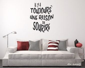 Wall decal there is always a reason to smile