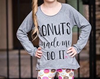 Pink Donut Jersey Knit Leggings/Capris, Girls/Baby Donut Leggings/Capris, Donut Knot Headband (SOLD SEPARATELY), Modern Girl/Baby