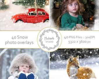 40 Snow Photo Overlays -  Snow Photo Overlays - Holiday Photo Overlays - Snow Photoshop Overlays - Digital  Snow Overlays