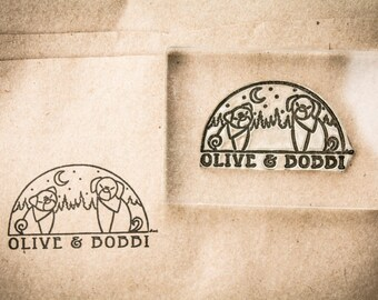 Custom Rubber Stamp - 2 x 3 Inches