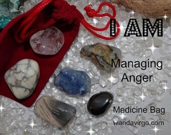 Managing Anger Crystal Medicine Bag I AM Managing Anger / Frustration / Rage