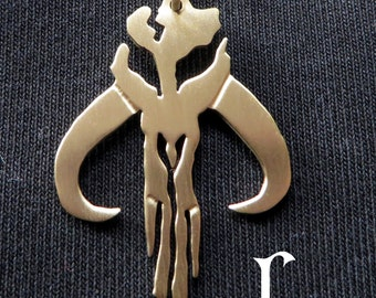 Mandalorian pendant from Star Wars (brass - totally handmade)