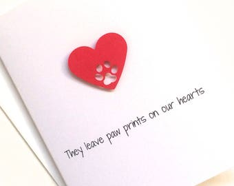 Loss of Cat Sympathy Card, Loss of Pet Sympathy Card, made on recycled paper, comes with envelope and seal