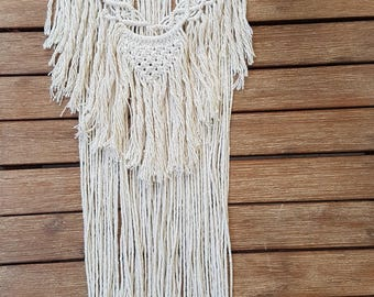 Macrame wall hanging, boho wall hanging, nursery decor, home decor, art, bohemian decor, gifts for her, kids bedroom, beach decor, driftwood