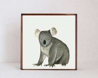 koala nursery art- baby girl nursery art- jungle nursery, nursery prints, baby nursery decor- kids playroom- australian art- redtilestudio