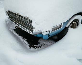 Snowy American Car Fine Art Photographic Print