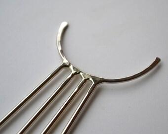 Metal Crescent Hair Stick, Hair Fork, Hair Holder, Hair Pin