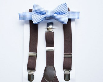 Baby Boy Bow Tie Suspenders Set, Toddler Bow Tie And Suspenders, Baby Boy Suspenders, Kids Bow Tie Set, 1st Birthday Outfit, Cake Smash Boy