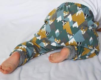 Fox Leggings | Woodland Leggings | Organic Leggings | Stag Leggings | Fox Harems | Baby Leggings | Toddler Leggings | New Baby Gift | Fox