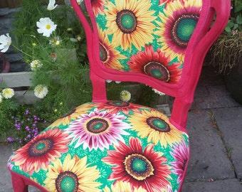 Sunflower Louis boudoir chair