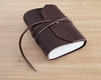 4X6 Dark Brown, Handmade Leather Journal