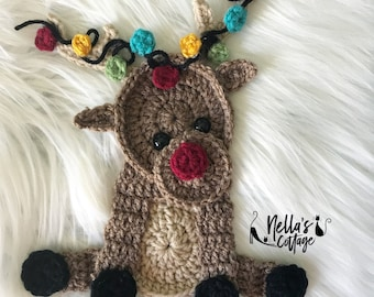 Crochet Pattern - INSTANT PDF DOWNLOAD - Rudolph - Christmas - Christmas Crochet Patterns - Crochet Reindeer - Christmas Gifts - Crochet