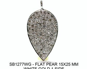White Gold Flat Pear