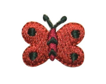 ID 2157B Cute Butterfly Patch Garden Bug Fairy Fly Embroidered Iron On Applique