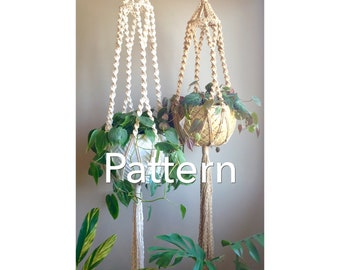 CAMBIE Intermediate Macramé PATTERN Plant Hanger//pdf DIY Tutorial Instructions Macrame Fiber Arts Pattern Only Instant Download