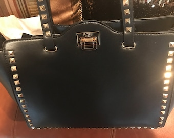 BCBG Square Stud Tote with Clasp Close