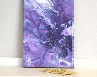 Abstract Art Painting, 5x7 inches Sky, Purple sky, Modern Contemporary Abstract, Acrylic Painting, Artwork, handmade, 5x7 Original Art