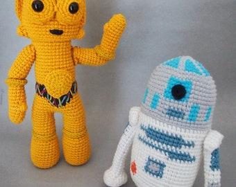 Star Wars C3PO AND R2D2 Crochet Pattern/Amigurumi
