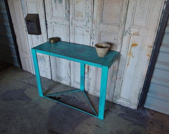 Color steel industrial style console