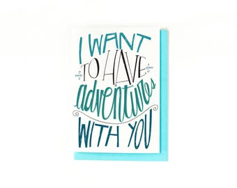 I Love You Card - Anniversary Card - Long Distance Relationship Card - Wedding Day Card - Romantic Card