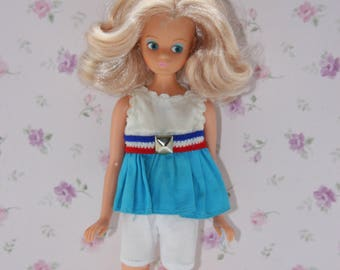 Vintage Daisy Doll Mary Qaunt Cute Outfit.white shorts and Top.NO DOLL