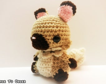Crochet Rockruff Inspired Chibi Pokemon
