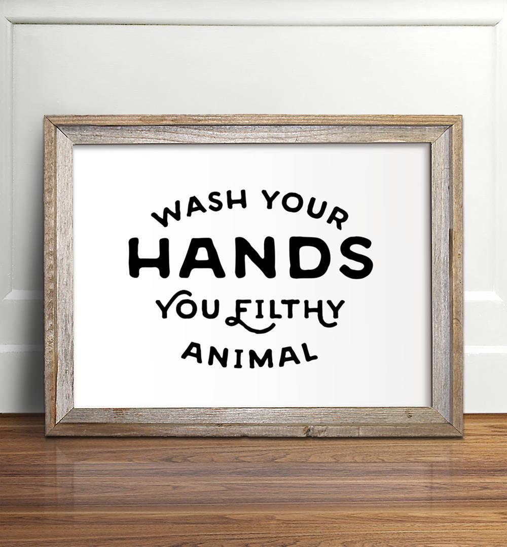 Clean image regarding printable bathroom art