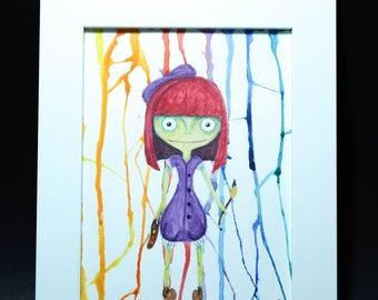 Illustration with frame, illustration with frame, illustrations for children, creepy illustrations