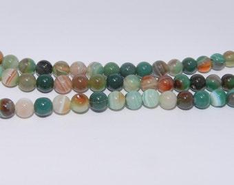 Agate - Dyed - Full Strand - 6mm, Round, Natural - AG-R-6-DSG