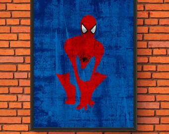 Minimalism Art - Spider-Man Print