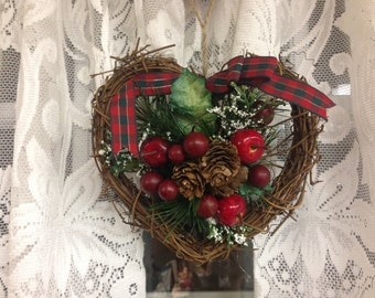 Grapevine Heart Wreath or Christmas Ornament