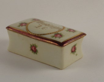 Porcelain Floral Trinket Box