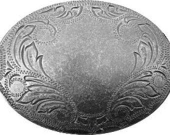 Western Engraved Oval Belt Buckle - Gift Idea - Belt Buckles for Men or women -  Sale - Holiday Sale - for him - Western