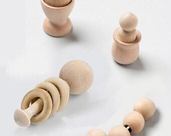 Premier bébé Toys-Rattle, Perles saisir, Egg Cup et avec Peg avec Coupe-Vente