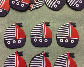 Nautical Boat wooden baby favors, Nautical party, Nautical Baby shower, Nautical theme party,