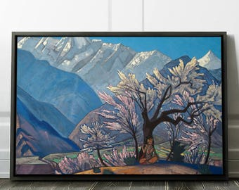 "Nicholas Roerich ""Krishna (Spring in Kulu)"" Framed Fine Art Print Roerich Wall Art Print Canvas in a Frame - Ready to Hang. (FC-NRO-02)"