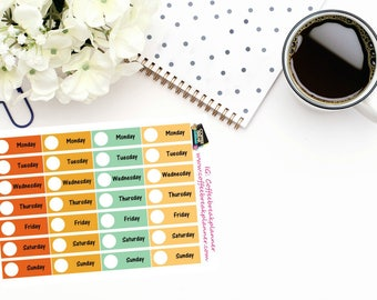 Planner Stickers |Date Header Stickers in Fall Colors|Hello Fall Date Headers|4 weeks of Date Header Stickers|DC013