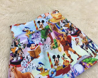 Disney Skirt - Pixar Skirt - Jersey Skirt - Girls Skirt - Baby Skirt - Toddler Skirt - Birthday Present - Princess Skirt - Lion King Skirt