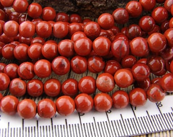 6mm Red Jasper beads Smooth Round Beads Earthy Gray Black Cream Rustic 6 mm Gemstone Beads Natural 6-6.8mm