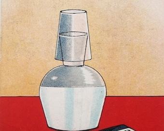 Very Rare Vinatge 'Sedlitz' Powder Advertising Postcard Circa 1940s Ephemera Chemist