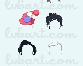 Serial Hair Fine Art Print